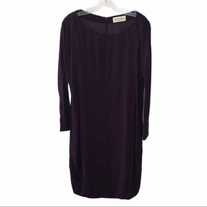 M.M. LaFleur Purple Long Sleeve Dress 8